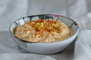 Red lentil hummus