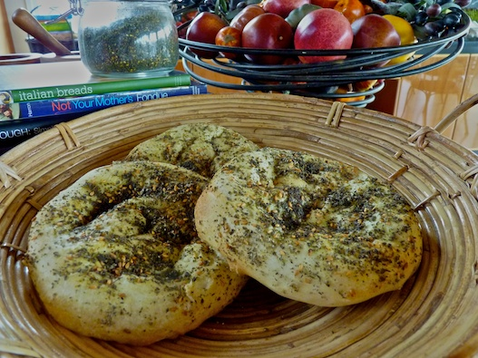 Mediterranean flat bread with zaatar mana ish olive oil and lemons dina honke - Pizzeria venecia marbella ...