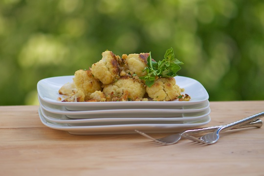 Yellow And White Cauliflower Sauté With Herbed Crumbs