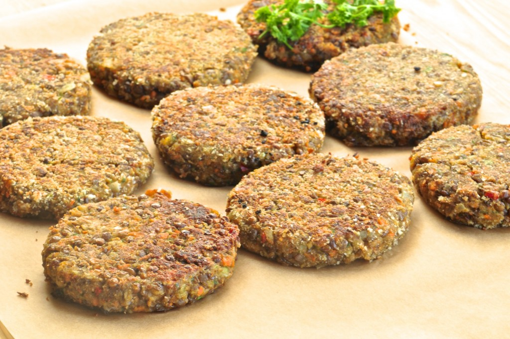 Lentil vegetable patties