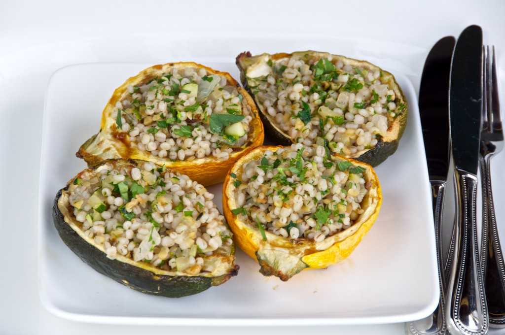 Stuffed baked summer squash