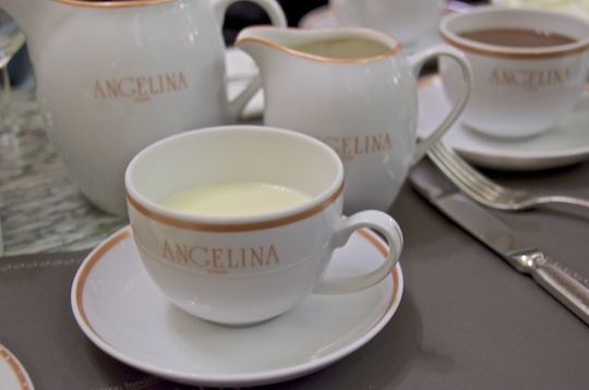 White hot chocolate at Angelina