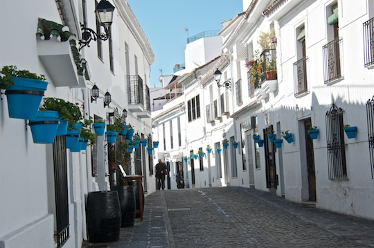 Side street in Mijas