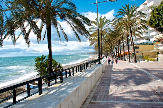 Promenade between Marbella and Puerto Bañus