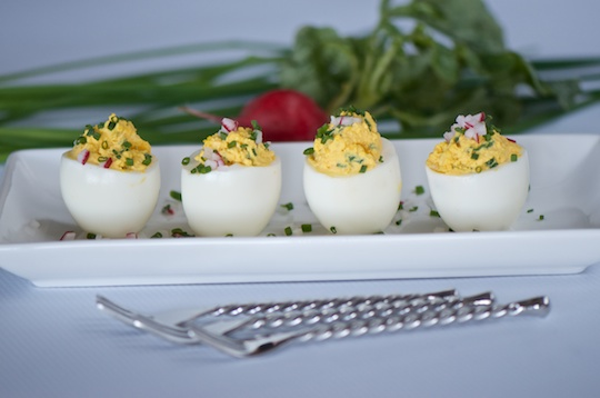 Deviled (but nice) eggs