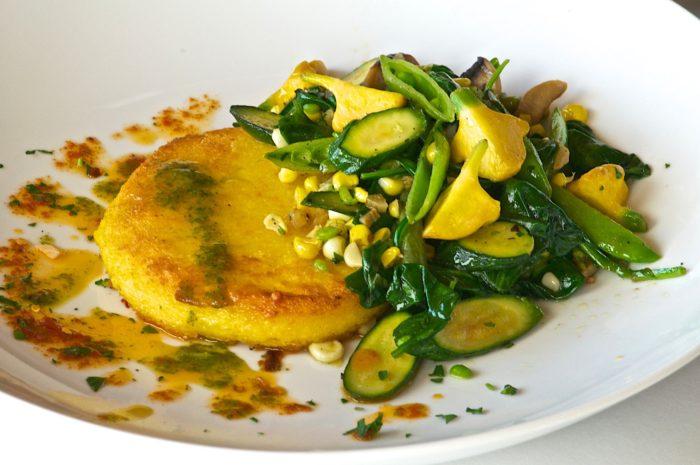 Polenta and vegetables