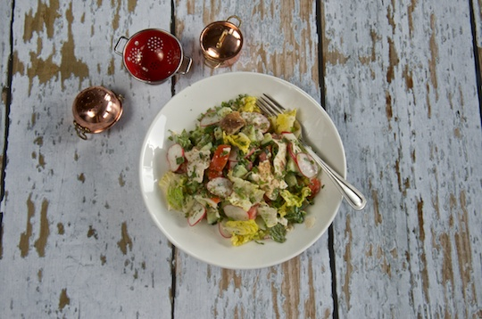 Fatoush Salad with buttermilk dressing