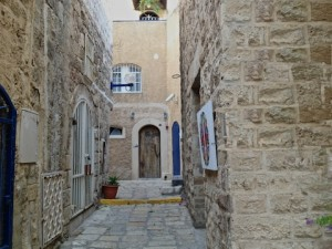 A street in old Jaffa