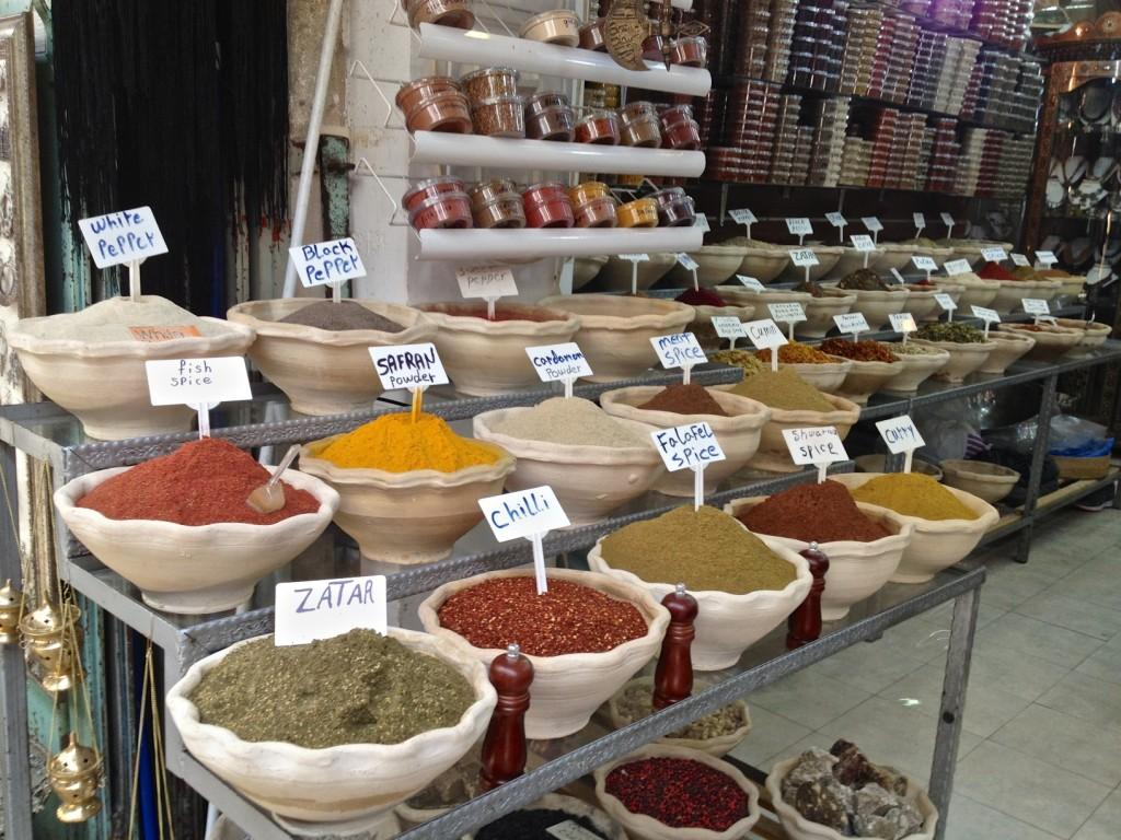 Za'atar in a spice market, Jerusalem