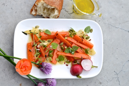 Marinated carrot sticks