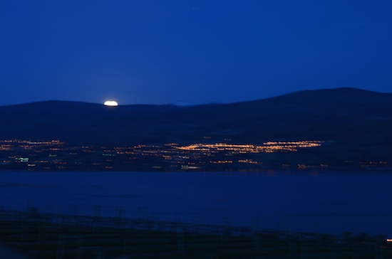 Moonrise over the Okanagan Lake