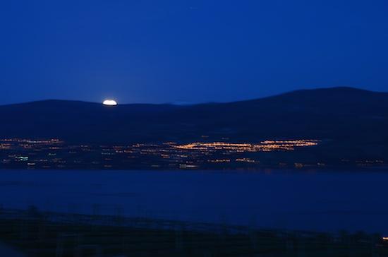 Moonrise over the Okanagan Lake