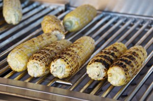 Grilling corn without the husks