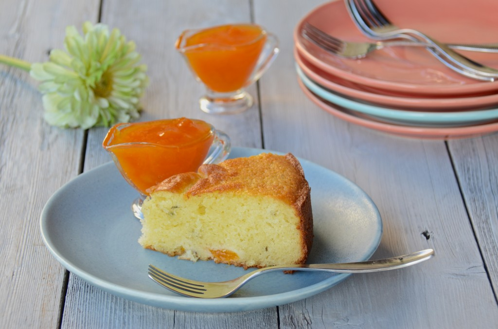 Apricot lavender cake