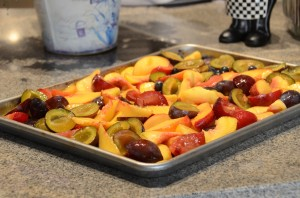 Roasted late summer fruits