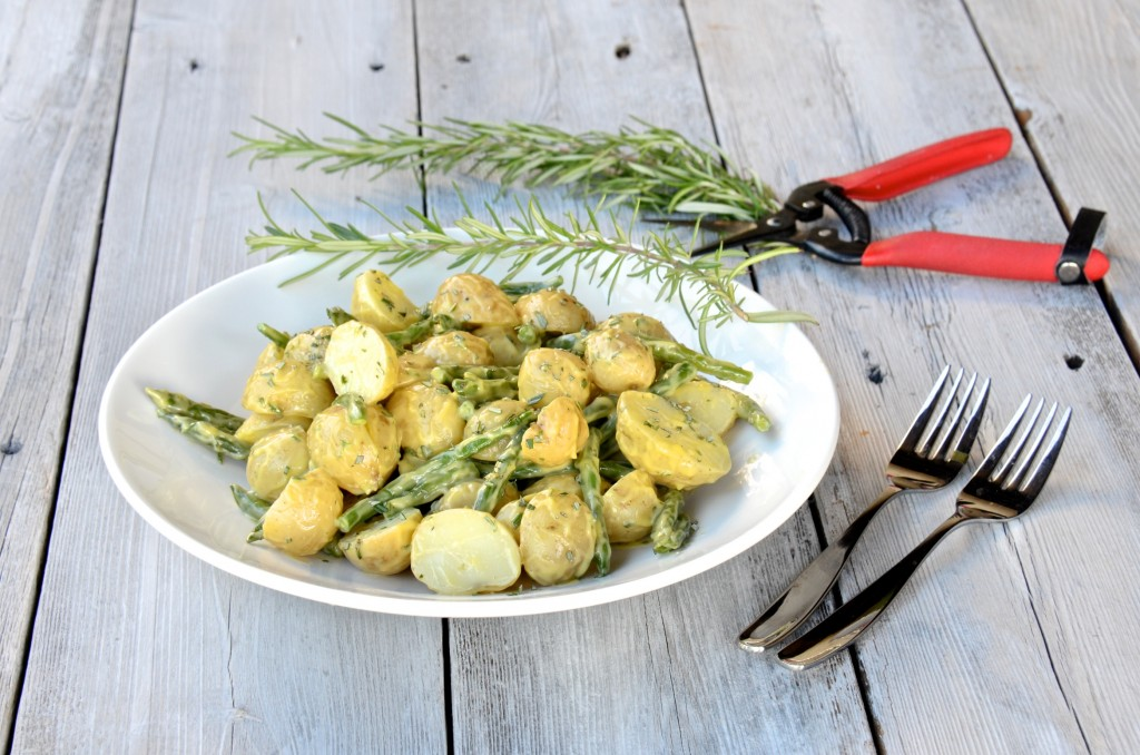 Potato salad with rosemary aioli