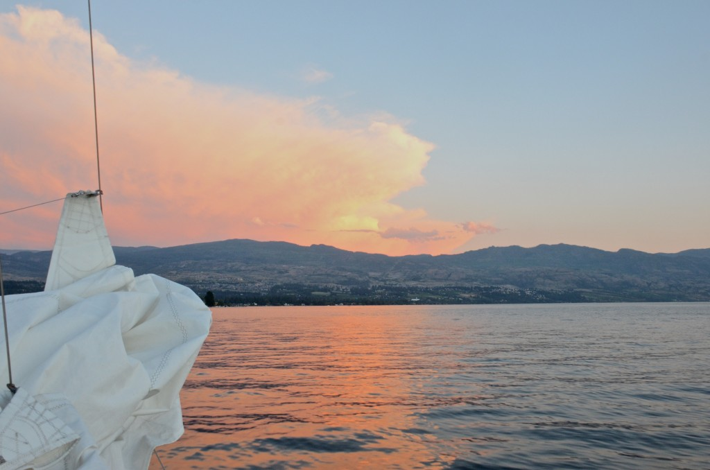 Sail into the sunset on the Okanagan