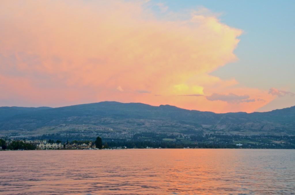 Sunset sail on the Okanagan
