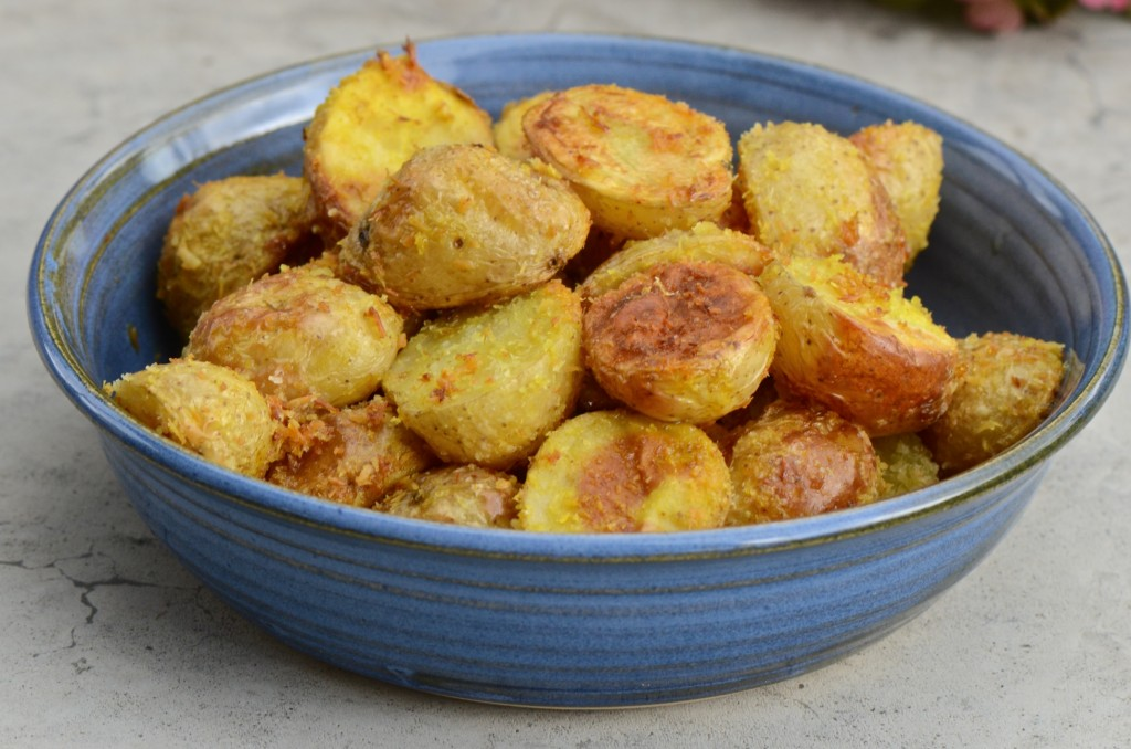 Potatoes with coconut flakes
