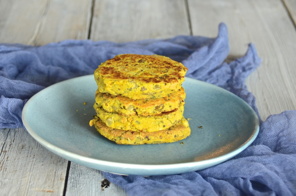 Vegan two-lentils burgers
