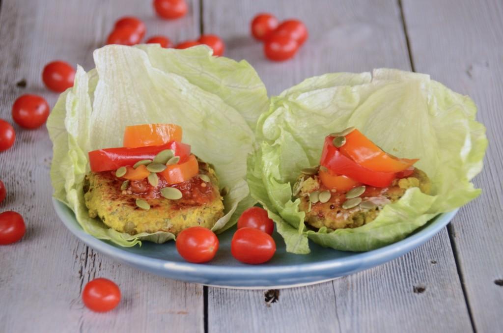 Vegan two-lentils burgers