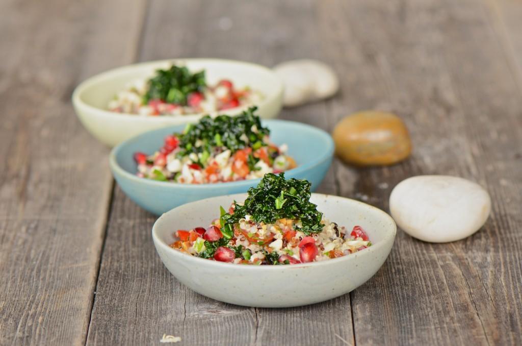 Quinoa flower salad