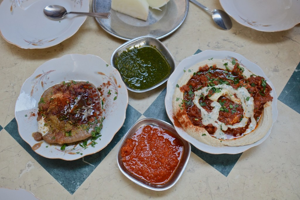 Hummus plates at Shlomo and Doron