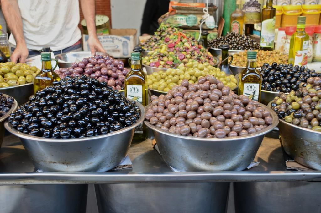 Olives at Shuk HaCarmel