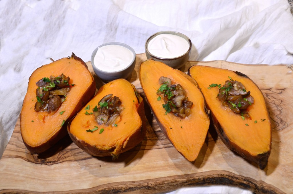 Sweet potatoes with chestnuts and limeo