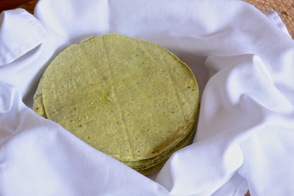 Nopales tortillas (cactus flour tortillas)