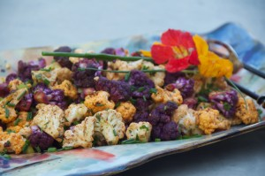 Rainbow cauliflower salad