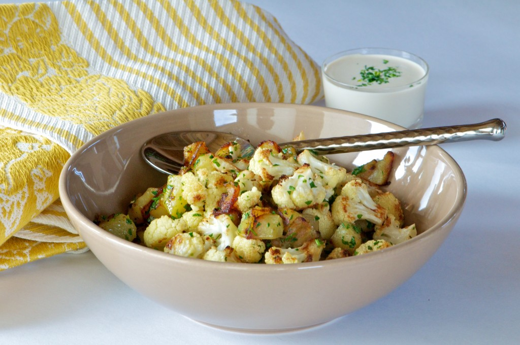 Roasted Cauliflower and Potatoes