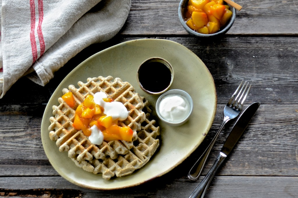 Buckwheat-chickpea flour waffles