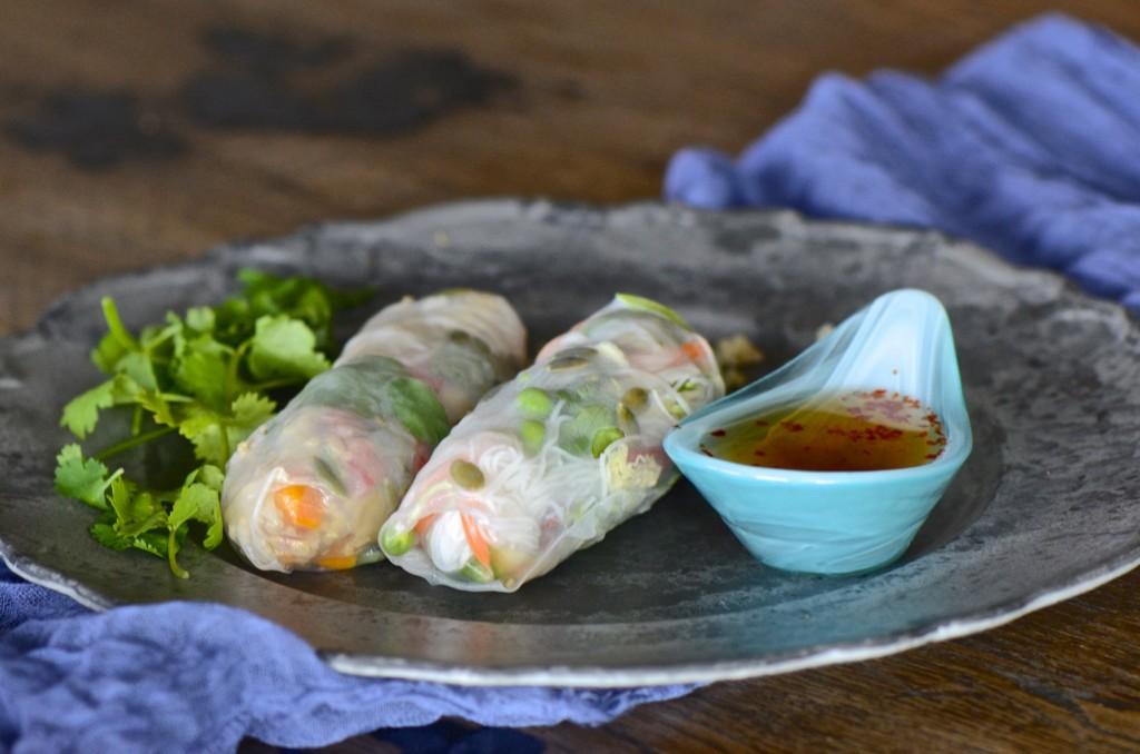 Spring radish salad rolls
