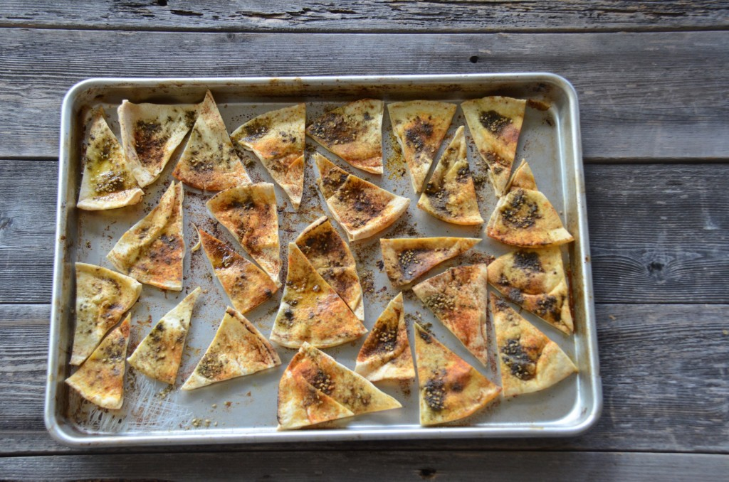Za'atar pita triangles
