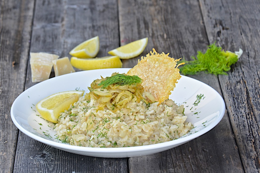 Fennel  and lemon risotto