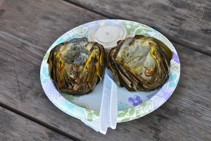 Grilled artichoke roadside
