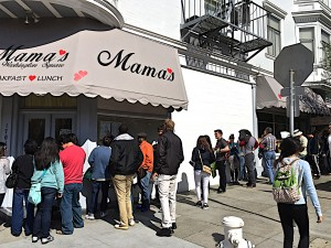 Line up at Mama's on Washington Square