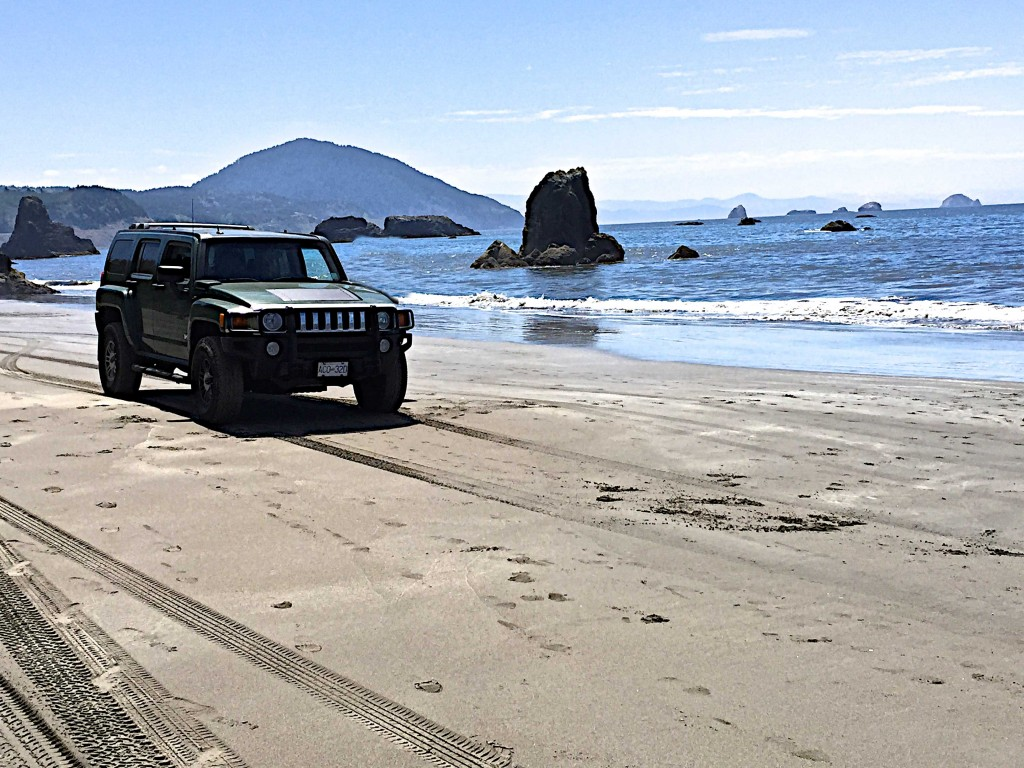 Beach ride on Port Orford