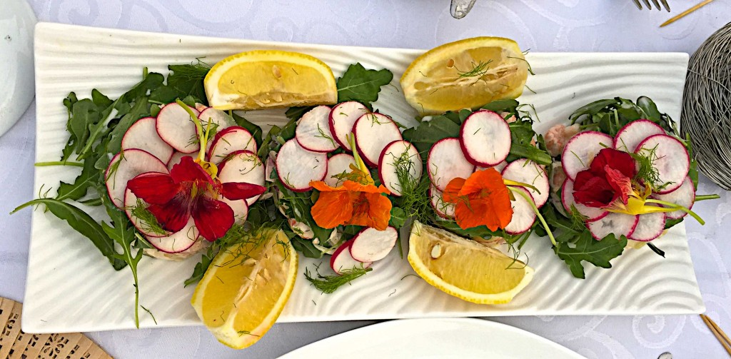 Val's exquisite lobster salad