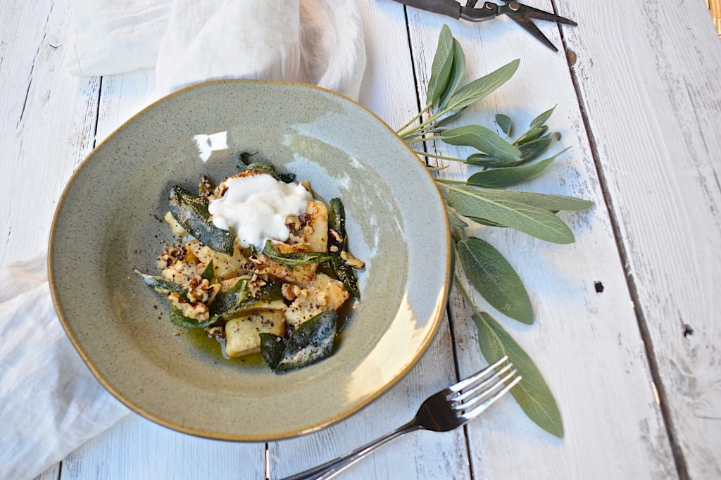 Ricotta Gnocchi with sage leaf brown butter