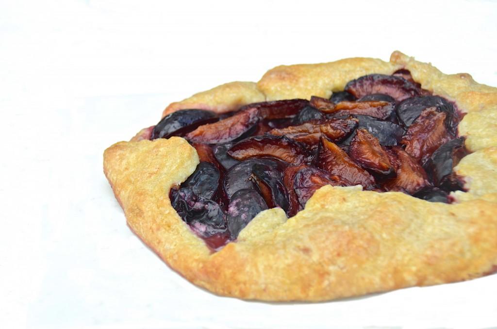 Plum galette/crostata