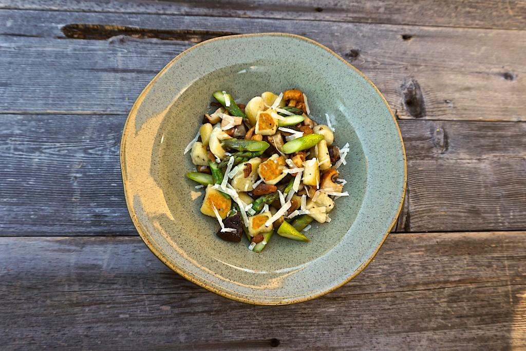Potato gnocchi with foraged mushrooms