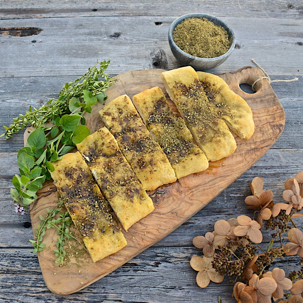 Flatbread with olive oil and homemade za'atar