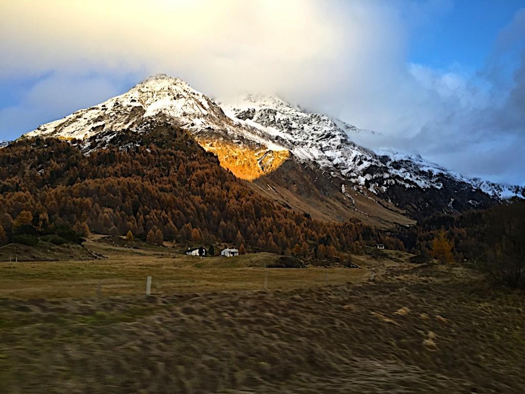 Swiss alps at sunset