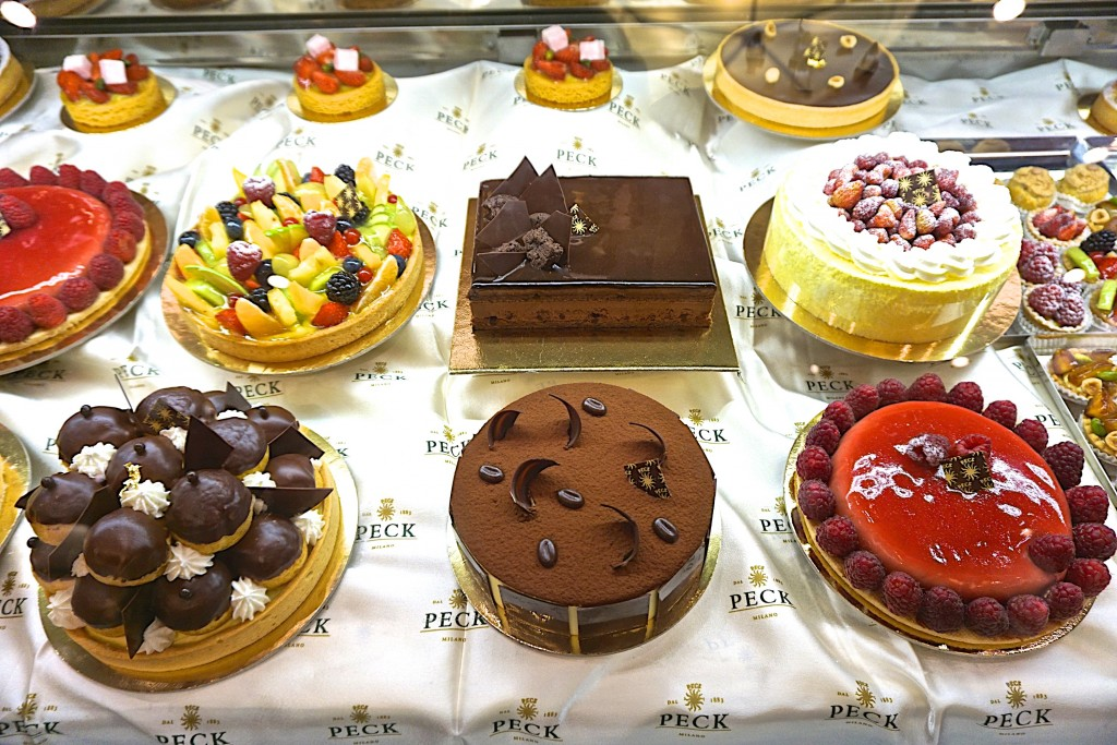 Pastries at Peck, milan