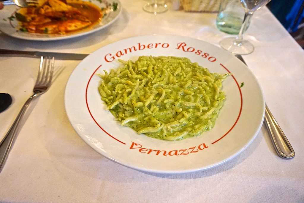 Trofie with Pesto Ligure