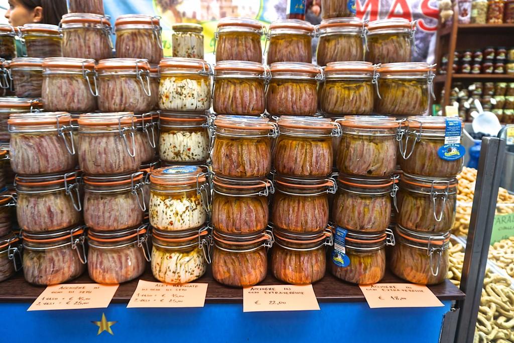 Anchovies at San Miniato truffle Festival