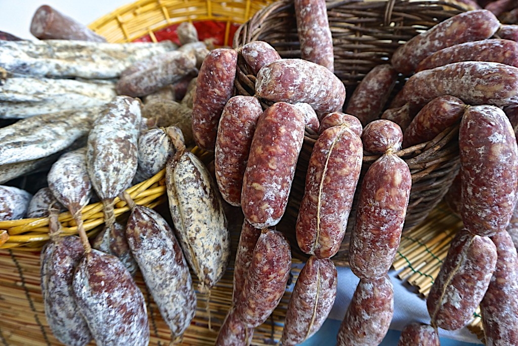 Local artisanal sausages