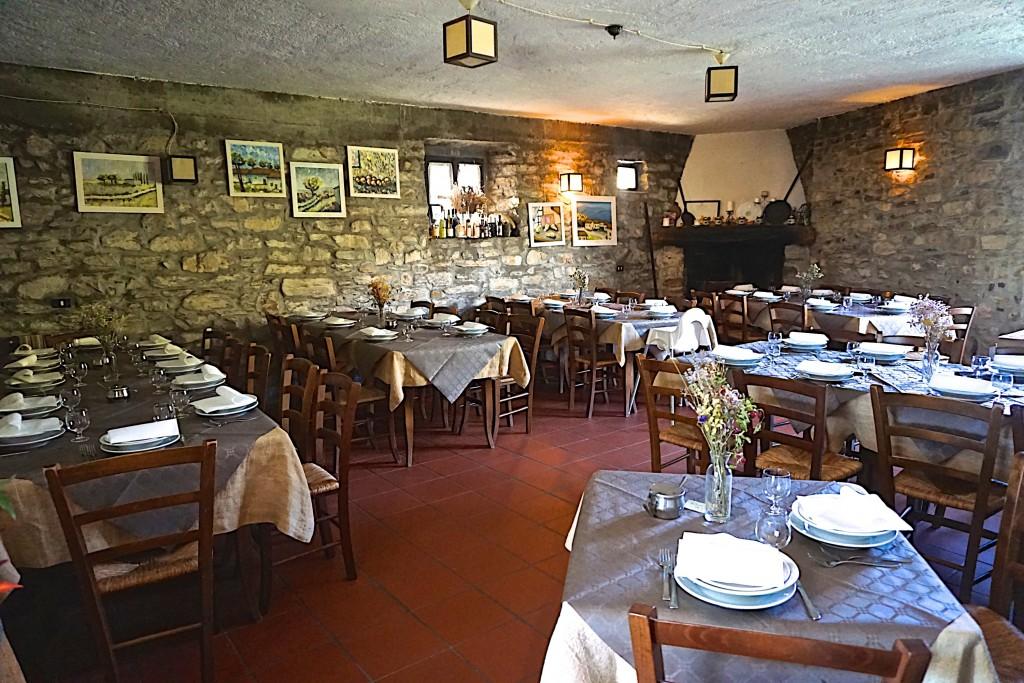 Restaurant at Montagne Verde agriturismo
